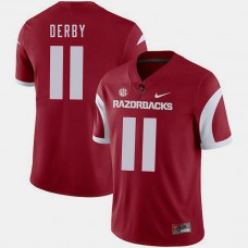 Arkansas Razorbacks #11 A.J. Derby Cardinal College Football GAME Jersey