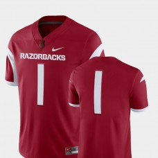 Arkansas Razorbacks #1 Cardinal College Football GAME Jersey