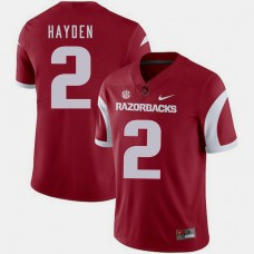 Arkansas Razorbacks #2 Chase Hayden Cardinal College Football GAME Jersey