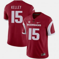 Arkansas Razorbacks #15 Cole Kelley Cardinal College Football GAME Jersey