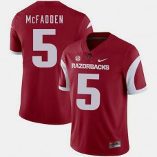 Arkansas Razorbacks #5 Darren McFadden Cardinal College Football GAME Jersey