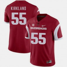 Arkansas Razorbacks #55 Denver Kirkland Cardinal College Football GAME Jersey