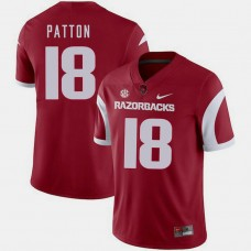 Arkansas Razorbacks #18 Jeremy Patton Cardinal College Football GAME Jersey