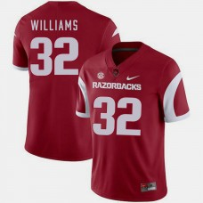 Arkansas Razorbacks #32 Jonathan Williams Cardinal College Football GAME Jersey