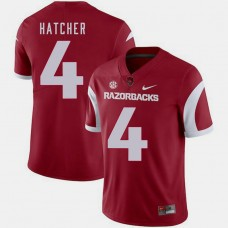 Arkansas Razorbacks #4 Keon Hatcher Cardinal College Football GAME Jersey
