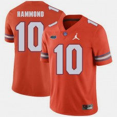 Florida Gators #10 Josh Hammond Orange College Football GAME Jersey