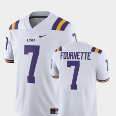 LSU Tigers #7 Leonard Fournette White College Football GAME Jersey
