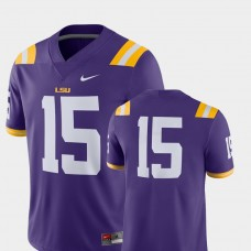 LSU Tigers #15 Purple College Football GAME Jersey