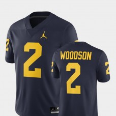 Michigan Wolverines #2 Charles Woodson Navy College Football GAME Jersey