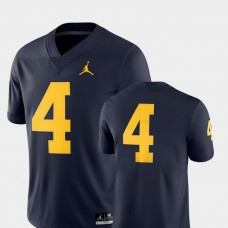 Michigan Wolverines #4 Navy College Football GAME Jersey