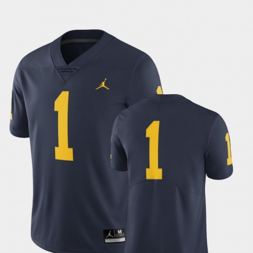 Michigan Wolverines #1 Navy College Football LIMITED Jersey