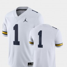 Michigan Wolverines #1 White College Football GAME Jersey