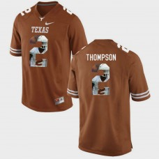 Texas Longhorns #2 Mykkele Thompson Brunt Orange College Football Jersey