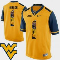 West Virginia Mountaineers #1 Shelton Gibson Gold College Football Jersey