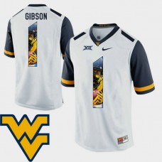West Virginia Mountaineers #1 Shelton Gibson White College Football Jersey