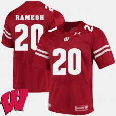 Wisconsin Badgers #20 Austin Ramesh Red College Football GAME Jersey