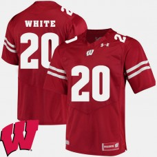 Wisconsin Badgers #20 James White Red College Football GAME Jersey