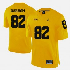 Michigan Wolverines #82 Amara Darboh Yellow College Football Jersey