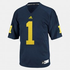 YOUTH - Michigan Wolverines #1 Braylon Edwards Blue College Football Jersey
