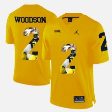 Michigan Wolverines #2 Charles Woodson Yellow College Football Jersey