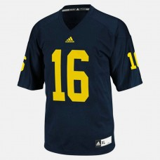 Michigan Wolverines #16 Denard Robinson Blue College Football Jersey