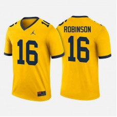Michigan Wolverines #16 Denard Robinson Maize College Football Jersey