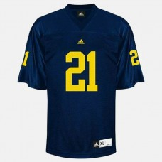 Michigan Wolverines #21 desmond Howard Blue College Football Jersey