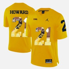 Michigan Wolverines #21 Desmond Howard Yellow College Football Jersey