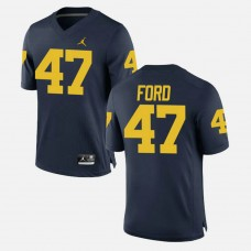 Michigan Wolverines #47 Gerald Ford Navy College Football GAME Jersey