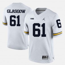 Michigan Wolverines #61 Graham Glasgow White College Football Jersey