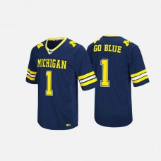 Michigan Wolverines #1 Navy College Football Jersey