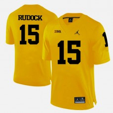 Michigan Wolverines #15 Jake Rudock Yellow College Football Jersey