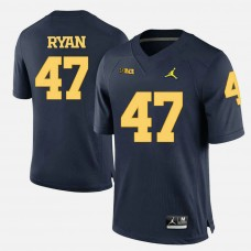 Michigan Wolverines #47 Jake Ryan Navy Blue College Football Jersey