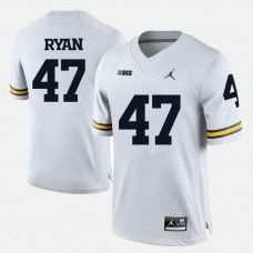Michigan Wolverines #47 Jake Ryan White College Football Jersey