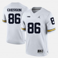 Michigan Wolverines #86 Jehu Chesson White College Football Jersey