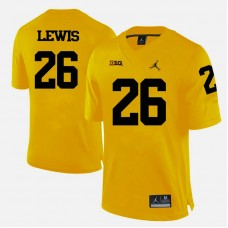 Michigan Wolverines #26 Jourdan Lewis Yellow College Football Jersey