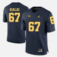 Michigan Wolverines #67 Kyle Kalis Navy Blue College Football Jersey