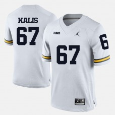 Michigan Wolverines #67 Kyle Kalis White College Football Jersey