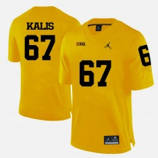 Michigan Wolverines #67 Kyle Kalis Yellow College Football Jersey