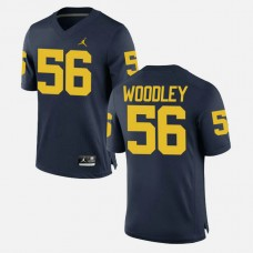 Michigan Wolverines #56 Lamarr Woodley Navy College Football GAME Jersey