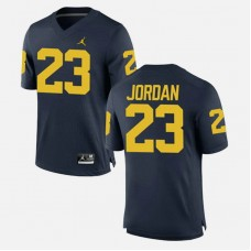 Michigan Wolverines #23 Michael Jordan Navy College Football GAME Jersey