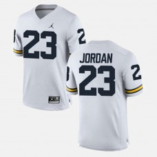 Michigan Wolverines #23 Michael Jordan White College Football GAME Jersey