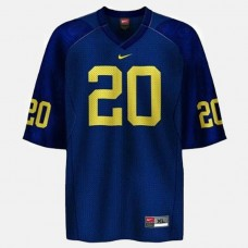 Michigan Wolverines #20 Mike Hart Blue College Football Jersey