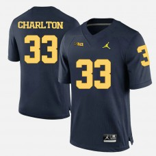 Michigan Wolverines #33 Taco Charlton Navy Blue College Football Jersey