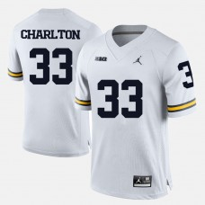 Michigan Wolverines #33 Taco Charlton White College Football Jersey
