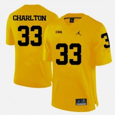 Michigan Wolverines #33 Taco Charlton Yellow College Football Jersey