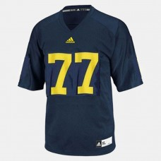 Michigan Wolverines #77 Taylor Lewan Blue College Football Jersey