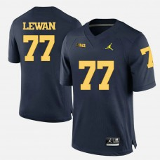 Michigan Wolverines #77 Taylor Lewan Navy Blue College Football Jersey