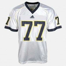 Michigan Wolverines #77 Taylor Lewan White College Football Jersey