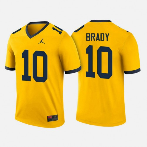 Michigan Wolverines #10 Tom Brady Maize College Football Jersey